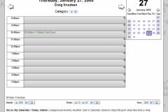 WebCalendar Day View