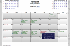 WebCalendar Month View