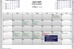 WebCalendar Month View