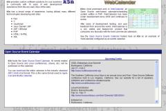 WebCalendar Upcoming Events