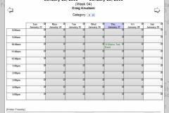 WebCalendar Week View
